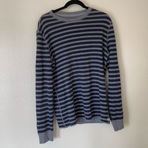 Lucky brand grey & white stripe thermal size large